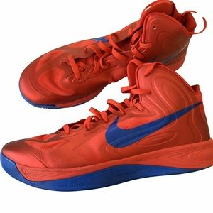 Nike Hyperfuse Red+ Blue Basketball Athletic Shoes